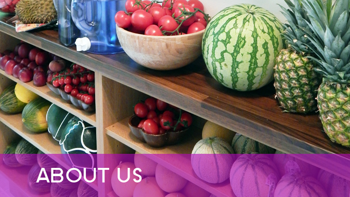 About us - food on shelves