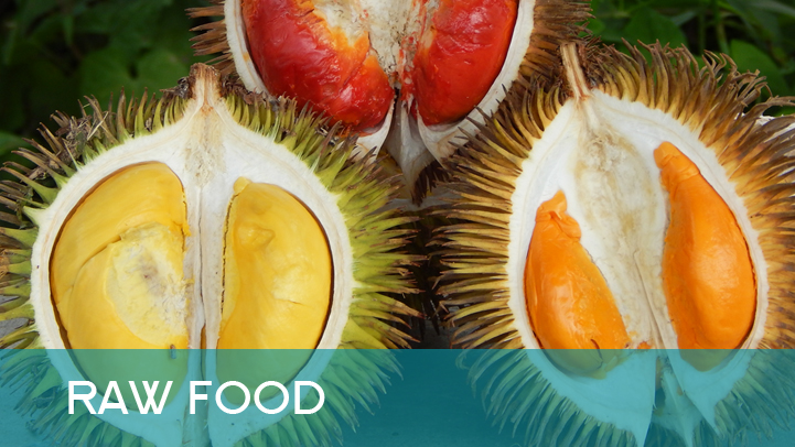 Raw food - durians