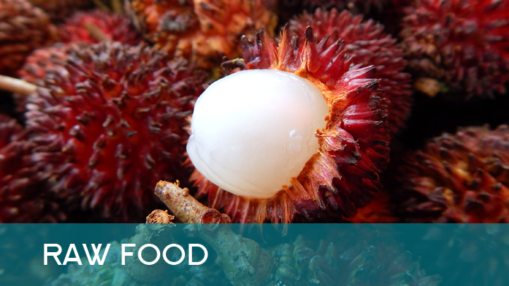 Raw food - rambutan
